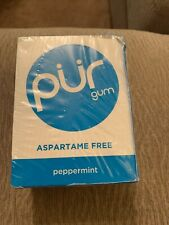 Pur Gum - Peppermint - Aspartame Free - 9 Pieces - 12.6 g- Case of 12 New Sealed