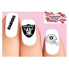 Waterslide Nail Decals Set of 20 - Oakland Raiders Football Assorted