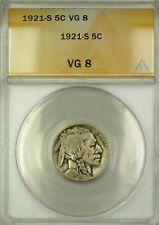 1921-S Buffalo Nickel 5c ANACS VG-8 (Better Coin)