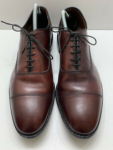 Allen Edmonds Park Avenue Cap Toe Oxford Burgundy Leather Men Size 10.5 C