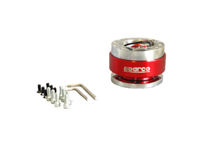 Snap Off Sparco Red Quick Release Adapter Steering Wheel Boss Kit Hub Racing