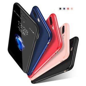 Hülle für Apple iPhone Xs SE S 8 7 6 5 Schutzhülle Silikon Case Schwarz Bumper