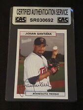 JOHAN SANTANA 2005 TOPPS BAZOOKA SIGNED AUTOGRAPHED CARD TWINS CAS CERTIFIED