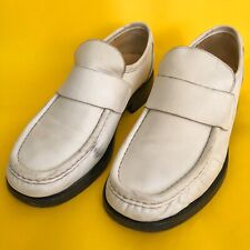 Patrick Cox Wannabe Vintage Cream/White Loafers RRP: £290