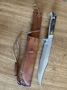 Original Puma Bowie 6396 Genuine Pumaster Steel Knife & Leather Sheath Germany