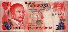 Botswana 20 Pula 1982 P-10 Banknote - b110