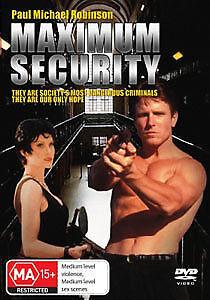 Maximum Security DVD Paul Michael Robinson ACTION PRISON TERRORIST MOVIE