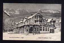 110661 AK Ober Krummhübel im Riesengebirge 1913 Hotel Preußischer Hof im Winter
