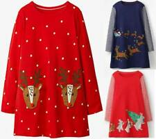 Mini Boden dress festive Christmas Xmas applique tunic red blue age 2 - 12 girls