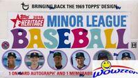 2018 Topps Heritage Minor League Baseball Factory Sealed HOBBY Box-2 AUTO/MEM