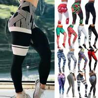 Women's High Waist Yoga Pants Print Sports Fitness Gym Stretch Leggings Push Up