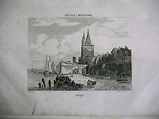 gravure ancienne XIXe FRANCE MILITAIRE Cologne