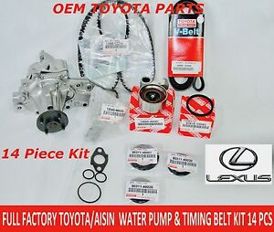 NEW LEXUS GS300 IS300 98 - 05 FULL FACTORY TOYOTA 14 Pcs TIMING BELT KIT W PUMP