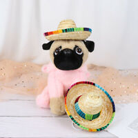 Mini Pet Dogs Straw Hat Sombrero Cat Sun Hat Beach Party Straw Hats Dogs RD