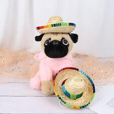 Mini Pet Dogs Straw Hat Sombrero Cat Sun Hat Beach Party Straw Hats Dogs Hat DD