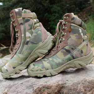 New Mens Combat Military Boots Cowhide Tactical Shoes Outdoor Desert Climbing