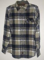 Legendary whiteTails flannel Shirt Button Front Mens Size Medium Blue Tan Plaid