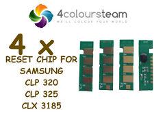 4x TONER RESET CHIPS (1set) FOR SAMSUNG CLP 320 CLP325 CLP326 CLX3185 (CLT 4072)