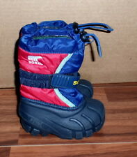 Toddlers Boys Sorel Winter Boots Cub Flurry Insulated Warm Snow Size 6