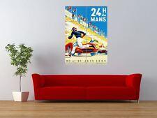 El deporte de motor de carrera de 24 horas Le Mans Francia Gigante impresión arte cartel del panel nor0342
