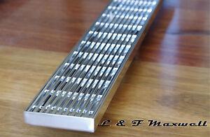 DESIGNER STAINLESS STEEL FLOOR GRATE WASTE DRAIN 1000mm