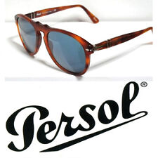 PERSOL 649 52 LIGHT HAVANA BLUE SUNGLASSES OCCHIALI SOLE AVANA BLU
