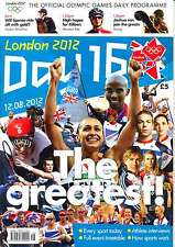 OLYMPIC GAMES DAY 16 SIXTEEN DAILY PROGRAMME LONDON 2012