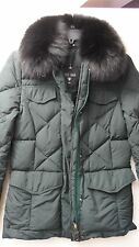 Retail $1495 Post Card of Italy Dark Green Down Ladies ski jacket Sz 42 / 8