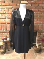 Vintage 90s J.R. Nites 5 /6 Evening Party EvenT Chic Sheer Sleeve Black Jacket