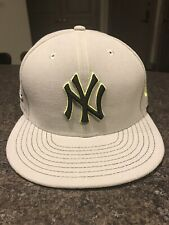 New Era Mlb New York Yankees 9Fifty Grey/Lime Adult Adjustable Snapback Hat