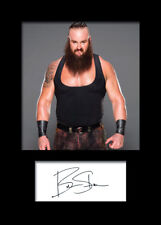 BRAUN STROWMAN #3 (WWE) Signed (Reprint) Photo A5 Mounted Print - FREE DELIVERY