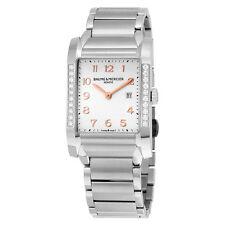 Baume and Mercier Hampton Silver Dial Stainless Steel Ladies Watch 10023