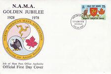 IOM 10 JUNE 1978 NAMA GOLDEN JUBILEE OFFICIAL FIRST DAY COVER DOUGLAS FDI