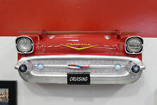 1957 Chevrolet Bel-Air Painted Resin Wall Decor w Glass Shelf & Lights: 7580-83
