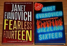 Lot of 2 book Janet Evanovich Fearless Fourteen Sizzling Sixteen 16 14 Hardcover