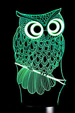Jhonpeters Owl Structure 3D Colourful Visual LED lamp Light- JPNL025