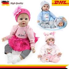 DHL Reborn Baby Puppe 55cm Lebensecht Handgefertigt Weich Silikon-Vinyl Mädchen