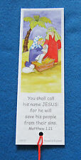 12 identical Nativity Manger Scene Christmas Bookmarks with Bible Text EB230