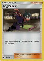 Pokemon Card Lot Trainer - 4x Koga's Trap 177/214 - Mint NM