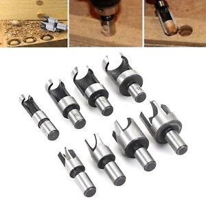 8PCS Wood Plug Cutter Cutting Tool Drill Bit Set 6/10/13/16mm Woodworking Cork