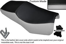 LIGHT GREY & BLACK CUSTOM FITS YAMAHA FZS 600 98-04 DESIGN 2 LEATHER SEAT COVER