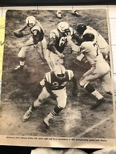 JOHNNY UNITAS 1961 Pro Football Magazine cutout pics -front/back BALTIMORE COLTS
