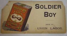 Antique Soldier Boy Smoking Tobbaco Advertisement