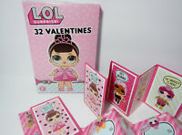 2019 LOL Surprise Doll 32 Valentines Day Cards 8 Designs Classroom Exchange NEW