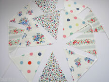 CATH KIDSTON OILCLOTH FABRIC BUNTING Little Spot, Highgate Rose, Lady Bird Ditsy