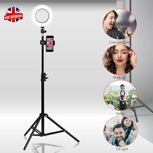 """6"""" LED Ring Light with 1.6M Stand for Youtube Tiktok Makeup Video Phone Selfie"""