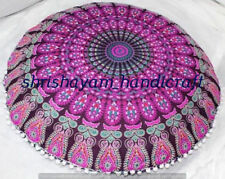 "Large Cushion Cover 32"" Ethnic Floor Pillow Indian Bohomian Mandala Cushions Art"