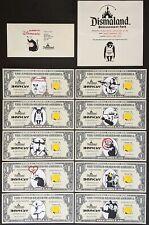 Banksy Original Canvas Dollar Set of 10 RARE Dismaland Art Complete Set w/COA