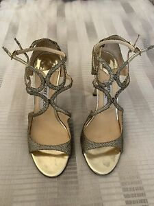 Jimmy Choo Gold Strappy Sandals UK6/7