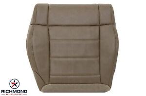 2012 Jeep Wrangler Sahara-Driver Side Bottom Leather Seat Cover Dark Saddle Tan
